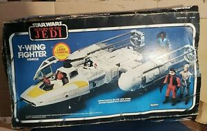 Y-Wing vintage star wars BOX ONLY Good colors, wrinkles and POP cut out