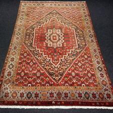 Orient Teppich Rot 200 x 135 cm Alter Perserteppich Handgeknüpft Old Carpet Rug