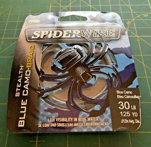 Spiderwire Stealth Braid Line 125 Yd 30Lb Blue Camo