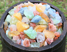 500 Carat Lot Natural Mixed Calcite Minerals (Orange Red Green Blue Honey Ice)