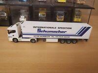 (P5) Herpa LKW H0 1:87 Scania Sattelzug Spedition Schumacher