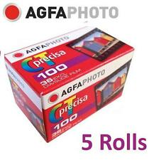 5 Rolls x AgfaPhoto AGFA CT precisa 100 ISO 135-36 36exp 35mm Color Slide Film