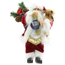 30cm Free Standing Classic Santa Claus Figure Father Christmas Xmas Decoration