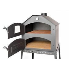 ACERTO Profi Pizzaofen Garten Pizza Ofen 64x63x68 Cm Doppelkammer