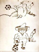 Original Foto De Prensa Copa del Mundo 1970 Juanito Mascota 24.6.1969