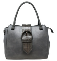 Women Buckle Tote Ladies Leather Handbag Shoulder Tote Purse Satchel Bag