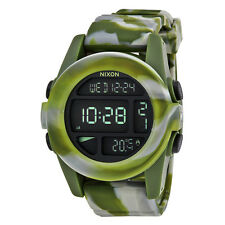 Nixon Mens Unit Digital Green Chrono Automatic Watch A1971727