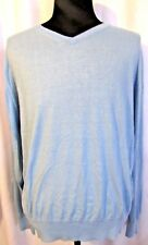 LINCS  MEN'S BLUE V-NECK LONG SLEEVE PULLOVER SWEATER SIZE XL NWT RET $128