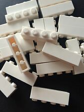 24 New Lego Bulk Lot 1x4 White Bricks Blocks 1 X 4