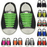 16Pcs Cool Elastic Silicone No Tie Lazy Shoelaces Shoe Lace Set for Kids Adults