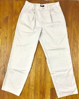 Dockers Mens Pleated Khakis Chinos Pants Off White Beige Size 30x30