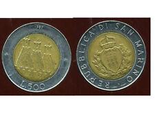 SAN MARIN   ITALY  500 lire 1987