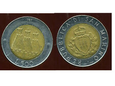 SAN MARIN   ITALY  500 lire 1987  ( bis )