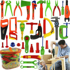 Deluxe 34 pcs Repair Tools Set Boy Kid Toys Craftsman Pretend Play Fixing Skill