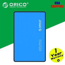 "ORICO External Enclosure Case USB 3.0 2.5"" SATA External HDD Hard Disk Box Blue"