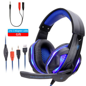 Gaming Professional Bass Gamer Wired Headphones Headset Dynamic Sound Pc Stereo