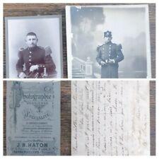 Photo carte militaire J.B Haton Rambervillers Vosges correspondance 1908