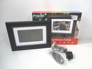 Polaroid 800 x 480 Resolution Black Digital Photo Frame Screen