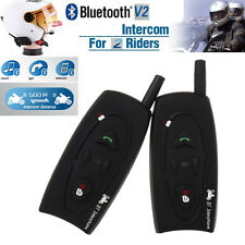 2 x BT 500M Motorcycle Interphone Bluetooth Helmet Intercom Headset for 2 Riders