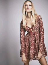For Love & Lemons / Free people Charlie mini dress in red Size S