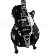 Miniature Guitar THE BEATLES with free stand. FAB FOUR