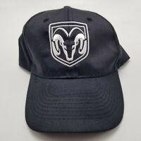Dodge Ram Hat Cap Black Adjustable Strapback Mens Used Bl2