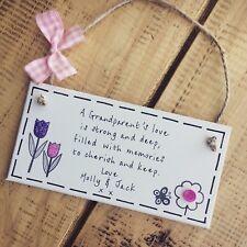 Personalised Great Grandparent Grandma Gran Nan Plaque Sign Gift Keepsake Presen