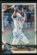 NICKY LOPEZ AUTO 2018 Bowman Topps Holiday HOBBY PROMO #/99 Dodgers Rookie RC