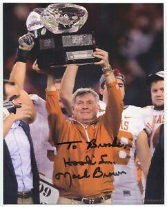 Mack Brown Signed 8x10 Promo Photo Autographed Signature Football Coach Texas
