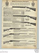 1966 PAPER AD Beretta Deluxe Shotgun Silver Snipe Hawk Armalite Air Force Rifle