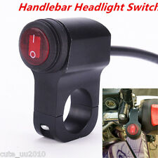 12V Motorcycle ATV Waterproof Handlebar Headlight Fog Spot light On/Off Switch