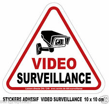 1 sticker adhesif camera video surveillance / format 10x10cm / ref SV01