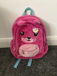 Girls Smiggle fluffy backpack Rucksack bag