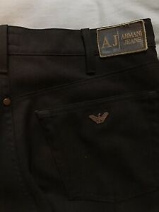ARMANI JEANS MENS BROWN TROUSERS W32 L30 STRAIGHT