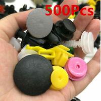 500Pcs Car Body Plastic Push Pin Rivets Fasteners Trim Moulding Clip Assortments