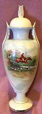 Fox Hunt Hunting Porcelain Urn Czechoslovakia