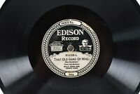 Edison Diamond 51235 Billy Jones That's A Lot Of Bunk - That Old Gang Of Mine