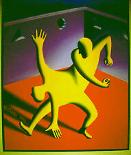 "Mark Kostabi ""SELF ABUSE"" 1992 Orig. 20""X24"" Oil on Canvas Signed w/Gallery COA"