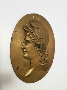 Republic French - Marianne - Bas Relief Oval - Bronze Xixth