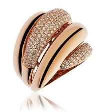 Pave Diamond Band 1.55ct F VS in 18ct Rose Gold Chunky Wedding Ring 20mm Wide