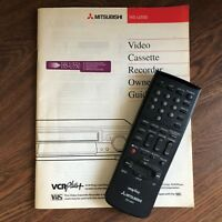 MITSUBISHI VCR / TV Remote Control and Complete Owners Manual HS-U550 939P562B2