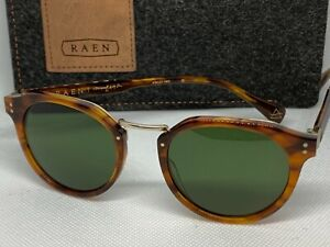 RAEN Remmy Alchemy Rootbeer Bottle Green Size 49 New In Box Sunglasses