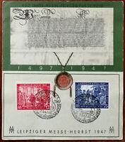 450 Jahre Mess-privileg Fur Leipzig 1497–1947, Leipziger Messe Herbst 1947 Stamp