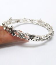 Silver Starfish Crystal Bracelet Stackable Silver Plate Bangle QUALITY USA
