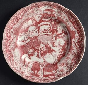 Noble Excellence Twas the Night Before Christmas Dessert/Salad Plate