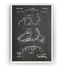 Lambretta Scooter 1955 Patent Print - Moped Poster Art Mod Gift - Unframed