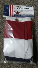 Independence Flag 3' Premium USA Pleated Fan Flag, Banner, Bunting, 0263471 NEW!