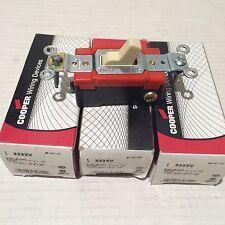 LOT of 3 COOPER 2223V 3-Way 20A 120-277V Electrical Light Switch Spec Grade