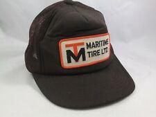 Vintage Maritime Tire Ltd Patch Hat Brown Snapback Trucker Cap