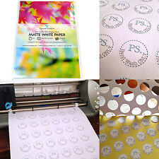 10 x A4 Sticky Sticker MATT Self-Adhesive Craft Paper Label Printing Silhouette
